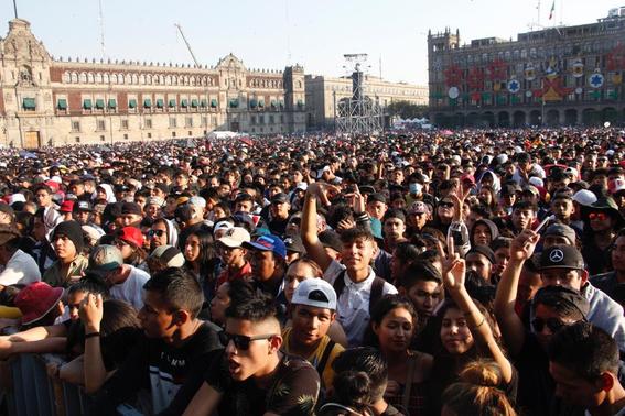 el festival internacional de musica del mundo que reunio a artistas nacionales e internacionales recibio a unas 180 mil personas en el zocalo de 7