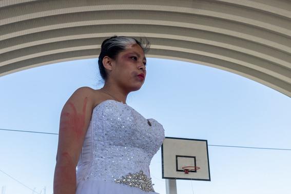 las jovenes alzaron la voz en un performance dedicado a la violencia de genero que se vive en el municipio del estado de mexico 2