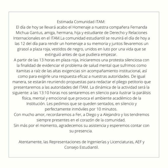 amlo lamenta suicidio fernanda michua gantus itam 1