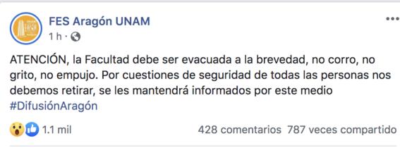 evacuan fes aragon amenaza de bomba 1