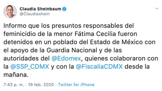 fueron detenidos los presuntos responsables del feminicidio de fatima 1