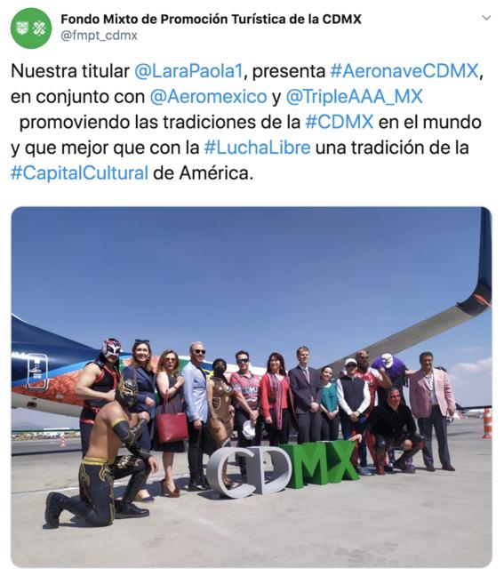 avion aeromexico cdmx lucha libre 1