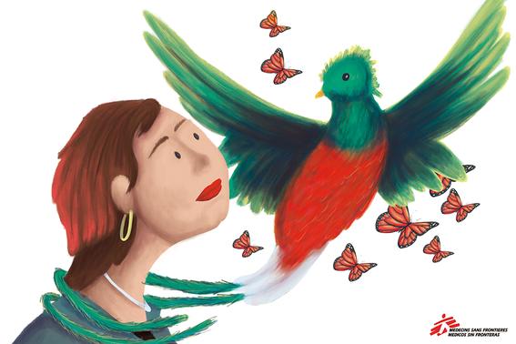 """12 artistas ilustran testimonios de mujeres que sobreviven a la violencia en """"mujeres sin fronteras nuestras luchas contadas por ilustradoras la 5"""
