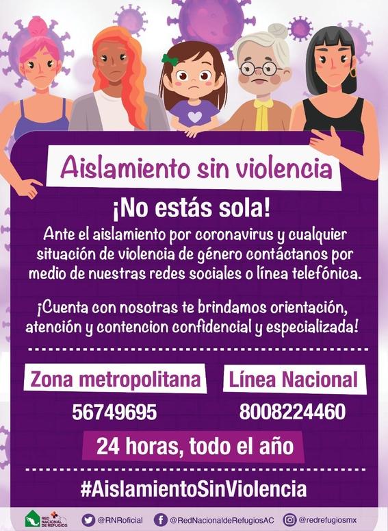 ofrecen apoyo a victimas de violencia de genero durante aislamiento covid19 1