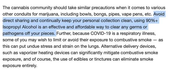 recomiendan no compartir porros para evitar contagios de coronavirus 2