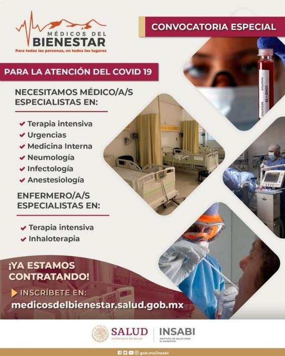 secretaria de salud anuncia que contratara medicos para luchar contra coronavirus 2