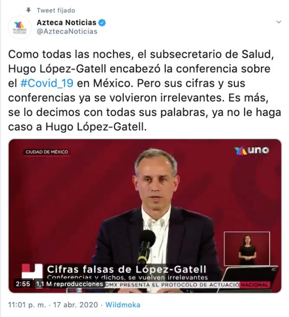 tv azteca pide dejar de creer en hugo lopez gatell 1