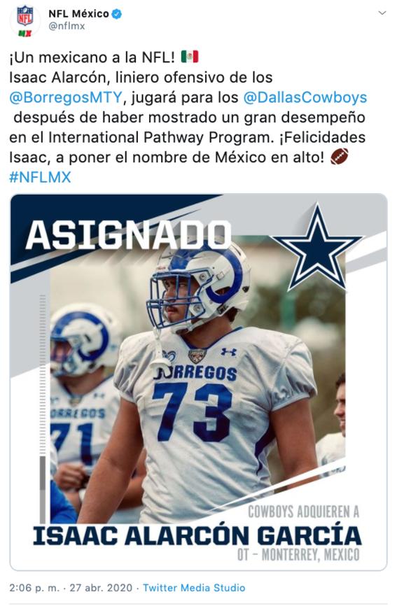 ¿quien es isaac alarcon mexicano que jugara para vaqueros de dallas 1