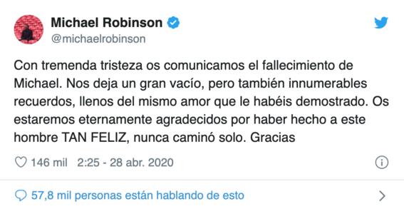 muere michael robinson conductor del programa el informe robinson 1