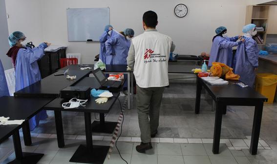 medicos sin fronteras muestran a traves de diferentes fotografias como es que hacen frente a la pandemia por covid en el mundo 1
