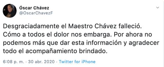 muere oscar chavez cantante y compositor mexicano 1