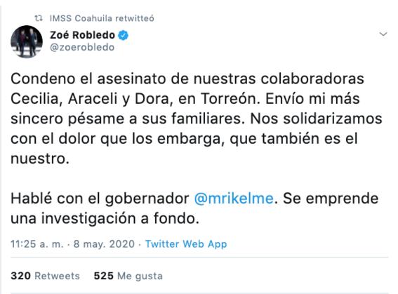 asesinan a tres trabajadoras del imss en coahuila 2