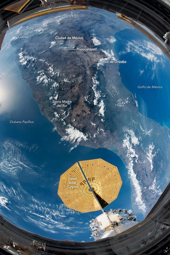 asi se ve mexico desde el espacio en fotografia tomada por la nasa 2