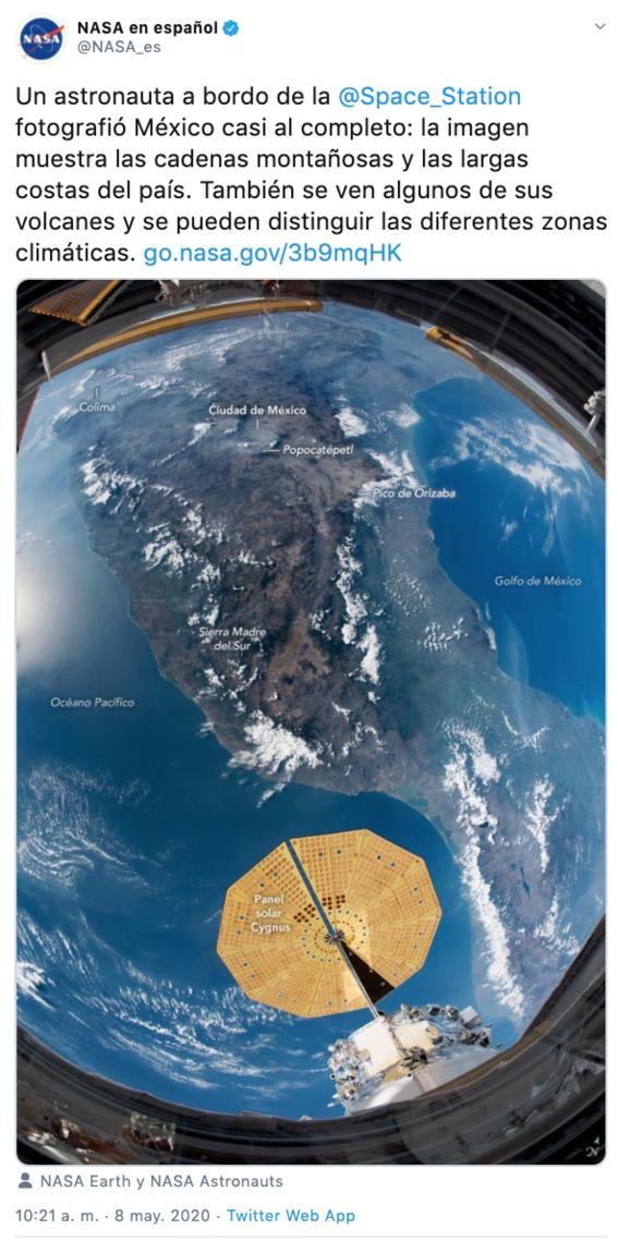 asi se ve mexico desde el espacio en fotografia tomada por la nasa 1