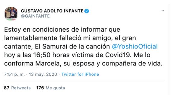 muere yoshio tras ser hospitalizado por sospecha de covid19 2
