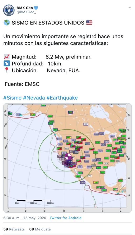 se registra sismo de 64 en nevada estados unidos 1