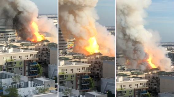 asi se vivio explosion de edificio en los angeles; hay 11 bomberos heridos 3