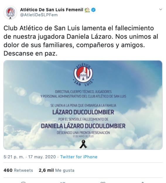 investigan como feminicidio muerte de jugadora de san luis daniela lazaro 1