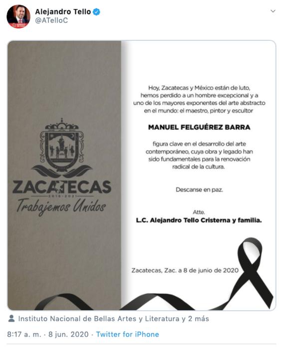 muere manuel felguerez barra pintor y escultor mexicano 1