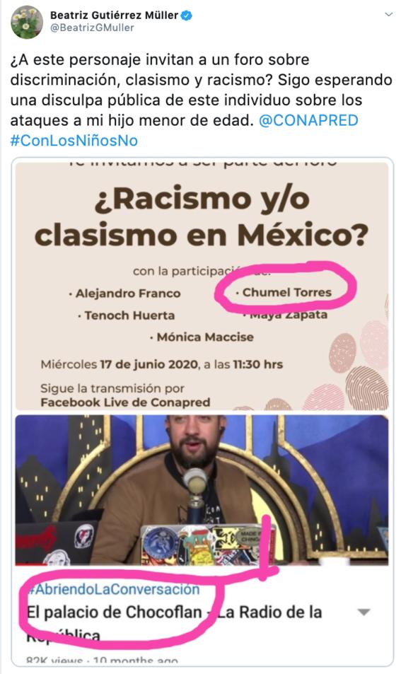 conapred cancela charla contra racismo y clasismo tras criticas hacia chumel torres 3