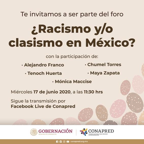 conapred cancela charla contra racismo y clasismo tras criticas hacia chumel torres 1