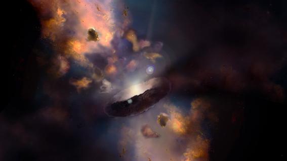 Identifican un enorme agujero negro que devora un Sol todos los ...