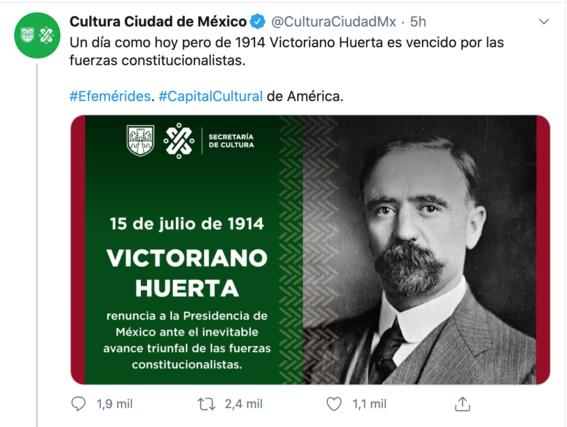 secretaria de cultura cdmx confunde a huerta con madero 1