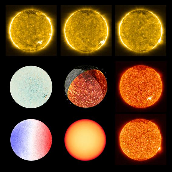 ¿como se ven las hogueras que se encontraron en el sol con el solar orbiter 3