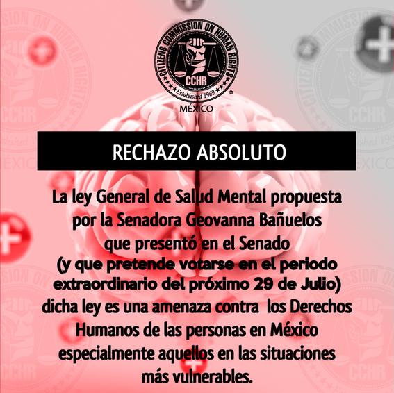 que es la ley banuelos de salud mental mexico 1