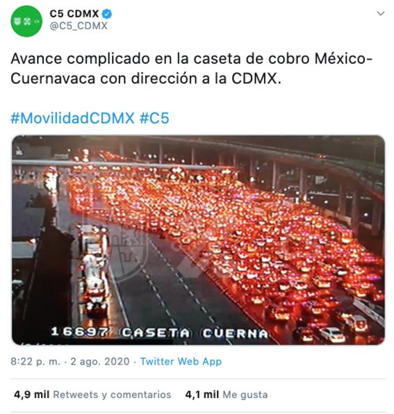 saturan la autopista mexicocuernavaca este fin de semana 1