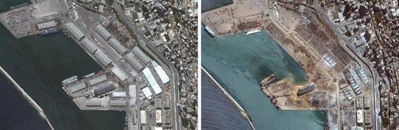 antes y despues explosion beirut 1