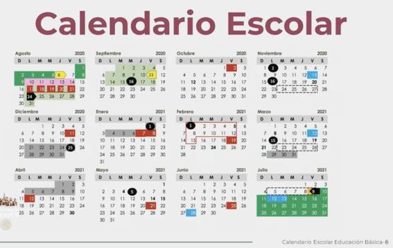 sep presenta calendario escolar 2020  2021 1