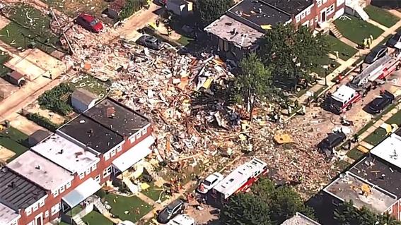 explosion en baltimore destruye tres edificios; habria un muerto 1