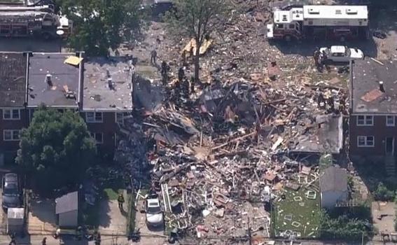 explosion en baltimore destruye tres edificios; habria un muerto 2
