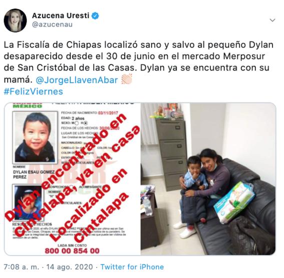 rescatan al pequeno dylan tras 44 dias desaparecido 1