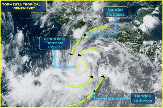 huracan genevieve pacifico mexicano 1