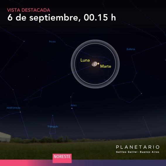 como cuando donde ver el beso luna y marte 6 de septiembre 2