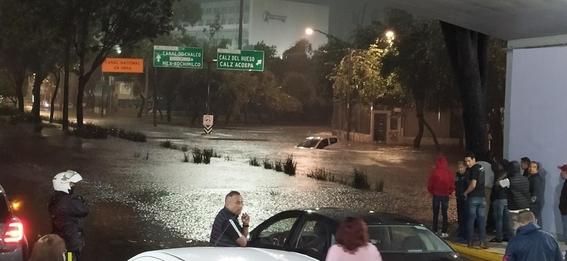 lluvia azota a la cdmx la noche del 16 de septiembre 2