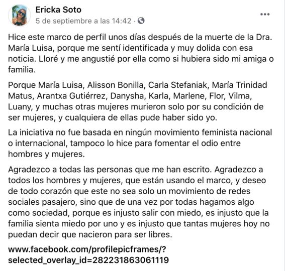 marco de perfil de facebook feminicidio jessica gonzalez morelia 2