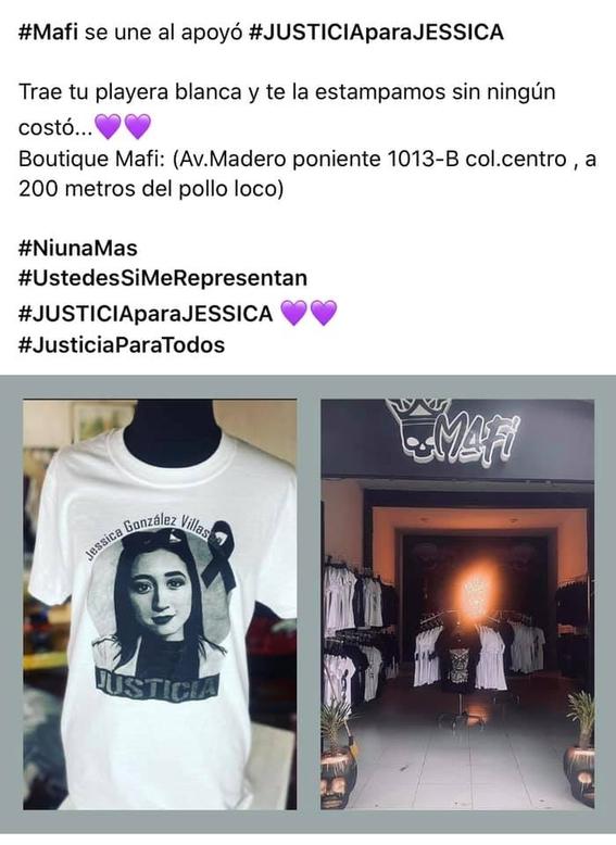 playera justicia para jessica morelia michoacan 1
