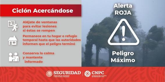 alerta roja tormenta tropical gamma quintana roo 1