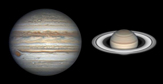jupiter y saturno se veran como un planeta doble en diciembre 1