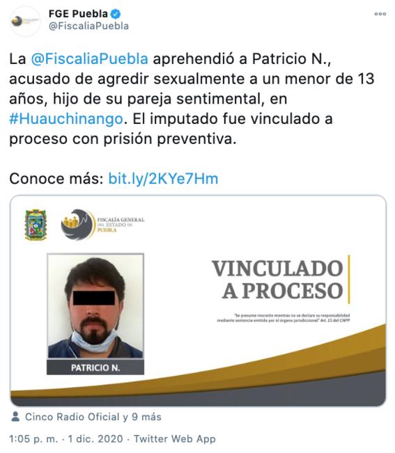 patricio abuso del hijo de su pareja durante tres anos en puebla 2