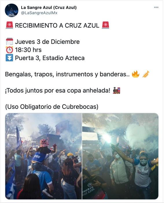 aficionados del cruz azul se reunen afuera del estadio azteca pese a covid19 1