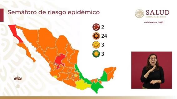 semaforo covid mexico diciembre 1