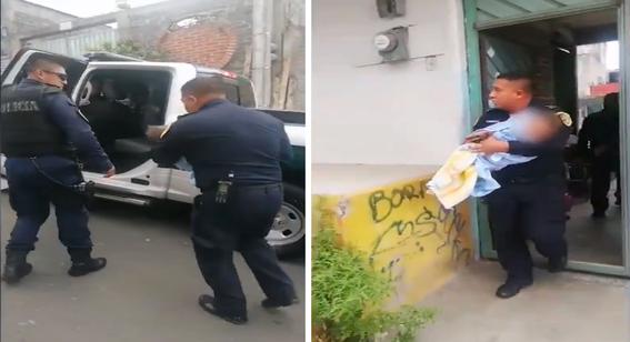 policias bebe tina agua tlalpan cdmx 1