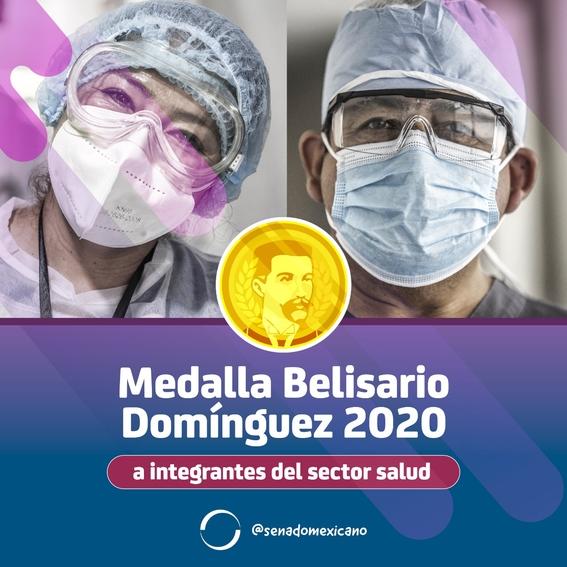 medalla belisario dominguez a personal de salud 2