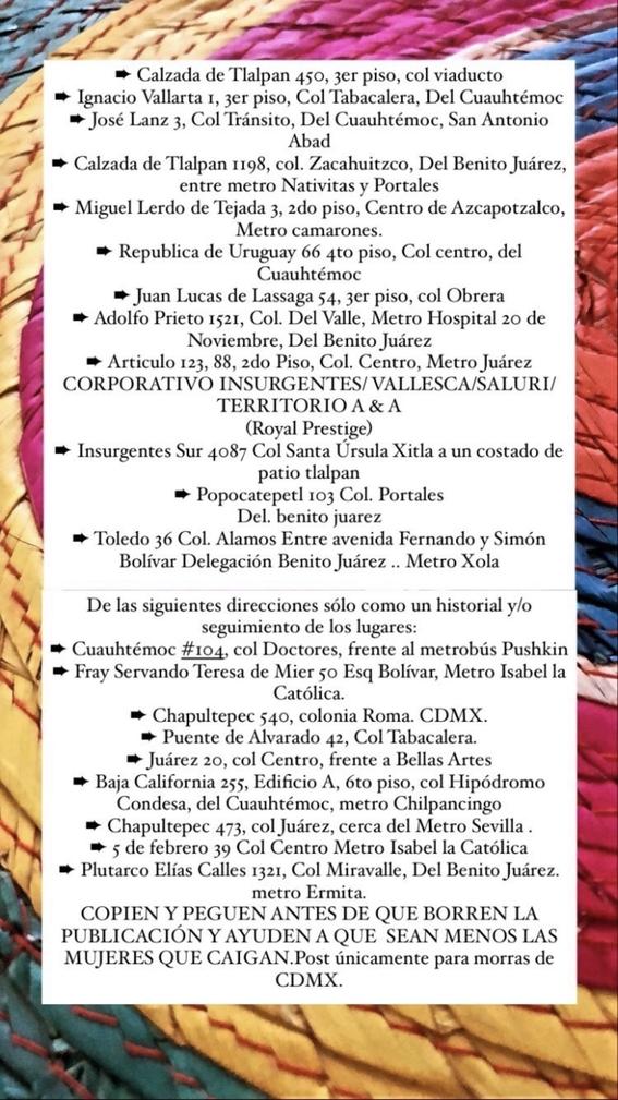 lista negra empleos falsos cdmx 2