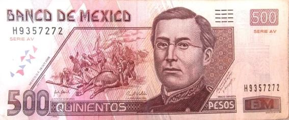 ¿cuales billetes mexicanos saldran de circulacion 5