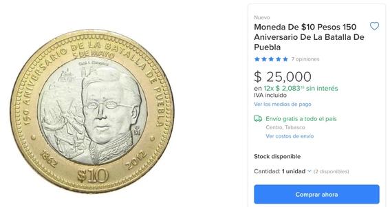 monedas de diez pesos de los 150 anos de la batalla de puebla podrian valer mas de 25 mil 1